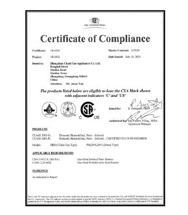 CSA认证