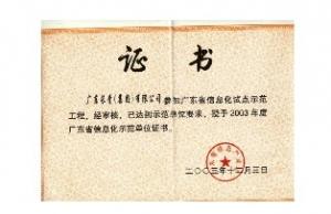 广东省信息示范单位